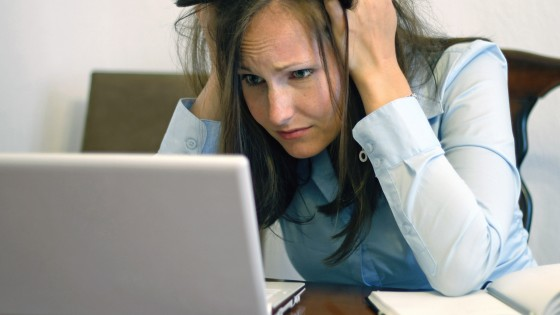 Frustriert im Home Office